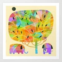 SHADE TREE Art Print