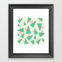 Crazy Flamingos Framed Art Print