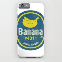 Banana Sticker On White iPhone 6 Slim Case