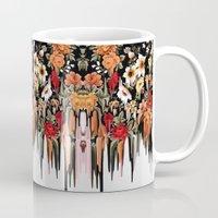 Free Falling, melting floral pattern Mug