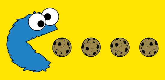 Cookie monster Pacman Art Print