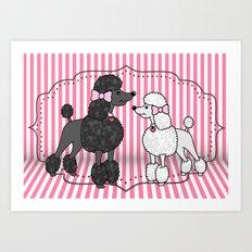 Pretty Poodles Art Print