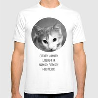 Soft Kitty Mens Fitted Tee White SMALL