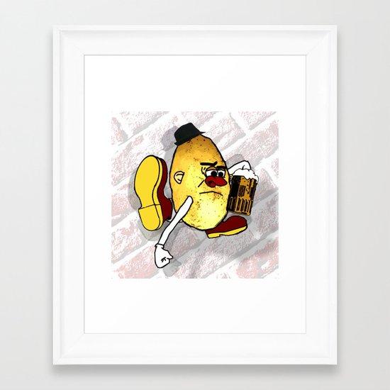 Potato Skin Framed Art Print
