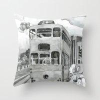 { 未來惑星 } Tramcar Throw Pillow