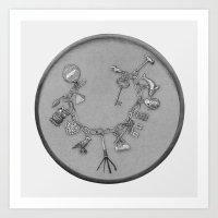 Charm Bracelet With Lock… Art Print
