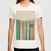Literary Gems I Womens Fitted Tee Natural SMALL