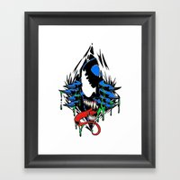 Ripped Venom  Framed Art Print