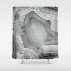 MINERAL MONOCHROME Shower Curtain