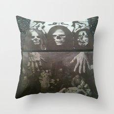 Neo Bedlam Dystopia Throw Pillow