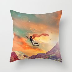 THE MAN WHO WANNA FLY AWAY Throw Pillow
