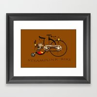 Steampunk Bike Framed Art Print