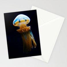 golden jellyfish  Stationery Cards