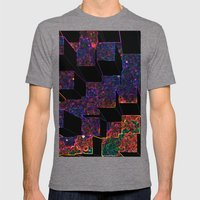 Electric Cubes  Mens Fitted Tee Tri-Grey SMALL