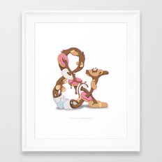 Coffee & Doughnuts Framed Art Print