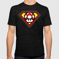 Super Mushroom Mens Fitted Tee Tri-Black SMALL