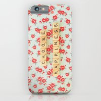 iPhone & iPod Case featuring Choose Happiness by happeemonkee