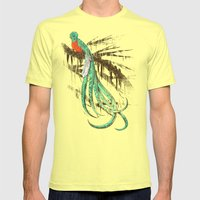 Quetzal Mens Fitted Tee Lemon SMALL