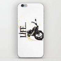 Motorcycle lifestyle  iPhone & iPod Skin