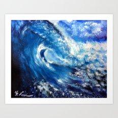 Painting - Mesmerizing Waves Series 1 Art Print