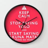 Keep Calm Forget YOLO Wall Clock