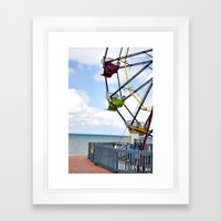 Erie Wheel Framed Art Print