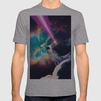 Neko San In Space Mens Fitted Tee Athletic Grey SMALL