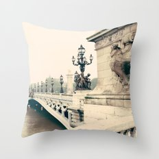 Paris, Pont Alexandre III Throw Pillow