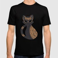The Egyptian Cat Mens Fitted Tee Black SMALL