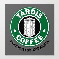 Tardis Coffee Canvas Print