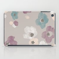 Watercolor Blooms - in Taupe iPad Case