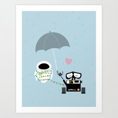 True Love.. Walle And Ev… Art Print