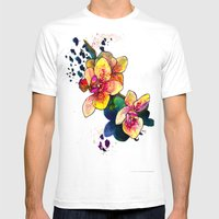 Inky Orchid Mens Fitted Tee White SMALL