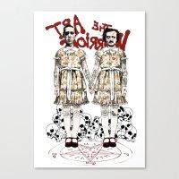 Evil Twins Canvas Print