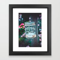 SPRING IN A JAR Framed Art Print