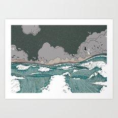 Stormy seas Art Print