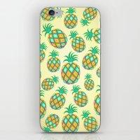 Pineapple Pastel Colors Pattern iPhone & iPod Skin