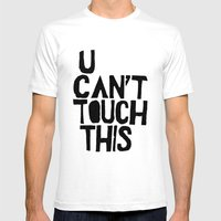 U can't touch This - by Genu WORDISIAC™ TYPOGY™ Mens Fitted Tee White SMALL
