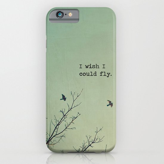 I wish I could fly (Birds and branches) iPhone & iPod Case