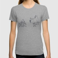 a dose of polar bear Womens Fitted Tee Athletic Grey SMALL