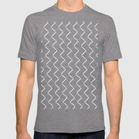 Chain Link On Black Mens Fitted Tee Tri-Grey SMALL
