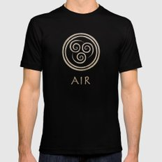 Avatar Last Airbender - Air SMALL Black Mens Fitted Tee