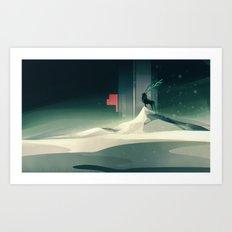 Winter in a dark world Art Print