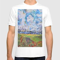 Lost In the clouds Mens Fitted Tee White SMALL