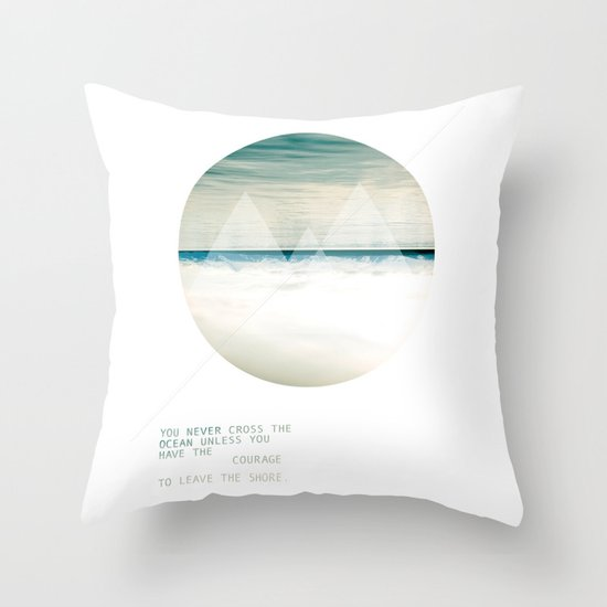 Leave the Shore Throw Pillow