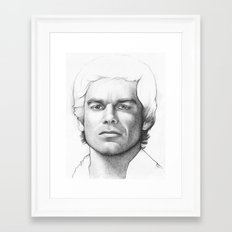 Dexter Morgan Portrait Framed Art Print