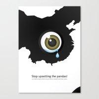 Giant Panda Conservation Canvas Print