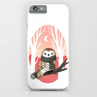 winter iPhone & iPod Cases featuring Winter Owl by Freeminds
