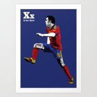 X is for Xavi Art Print