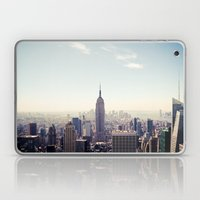 Manhattan - Empire State Building Pano | colored Laptop & iPad Skin